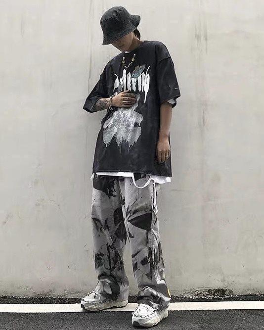 《2色》バタフライメルトクマタイダイTシャツの画像6